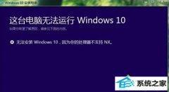技术员还原升级win10提示器不支持nx的办法?