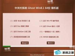 中关村Windows8.1 精简装机版64位 2021.04